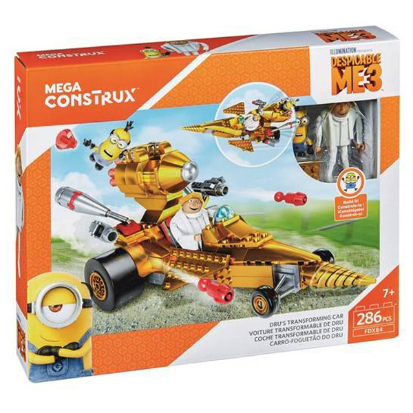 Kocke Mega Construx Despicable Me 3 Drus Transforming Car 286pcs FDX84 - ODDO igračke
