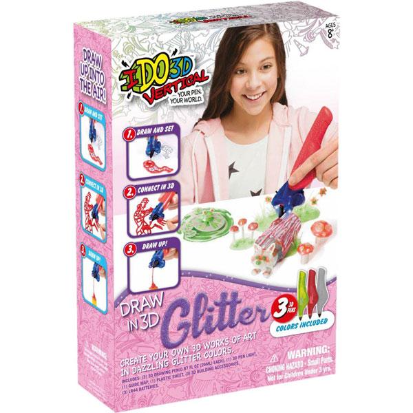 I DO 3D VERTIKAL Glitter set 3 olovke RD166076 - ODDO igračke
