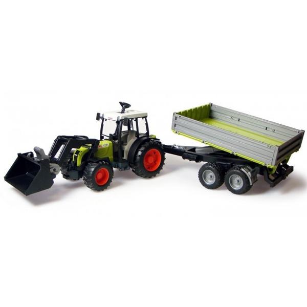 Traktor Bruder CLAAS sa prikolicom i utovarivačem 019983 - ODDO igračke