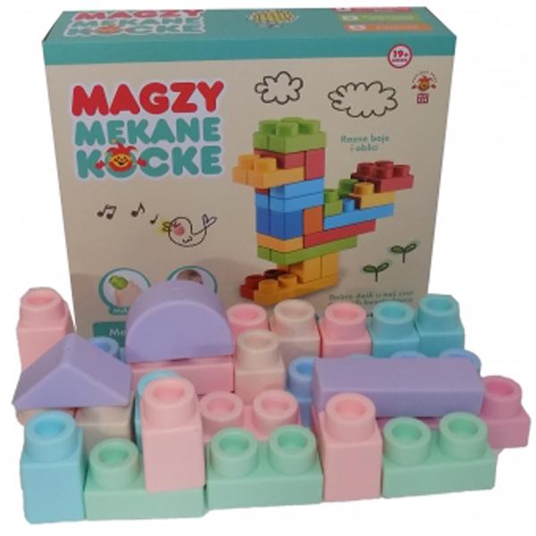 Magzy Mekane konstruktor kocke 25pcs 6985823 - ODDO igračke
