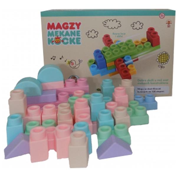 Magzy Mekane konstruktor kocke 45pcs 6985824 - ODDO igračke