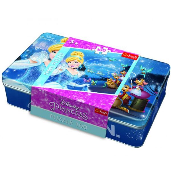 Trefl puzzla Pepeljuga ide na bal Disney Princess 100pcs metal box 53013 - ODDO igračke