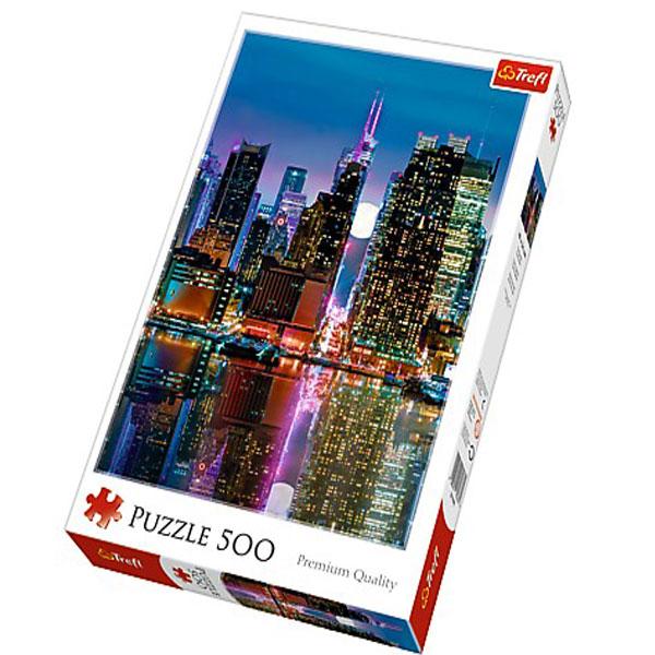 Trefl puzzla Full moon over the Manhattan 500pcs 37261 - ODDO igračke