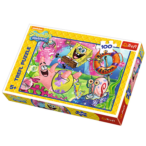 Trefl Puzzla Residents of Bikini Bottom/ SpongeBob 100pcs 16300 - ODDO igračke