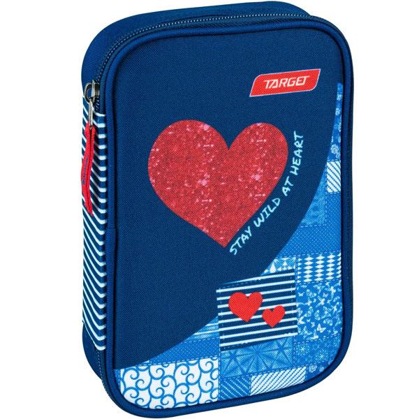 Pernica puna Multi Red Denim Heart Target 21842 - ODDO igračke