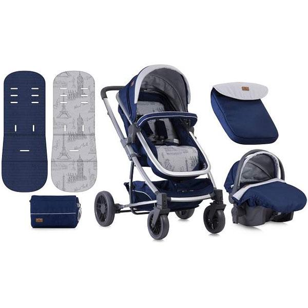 Kolica S-500 Set Blue Travelling Bertoni 10020851850 - ODDO igračke
