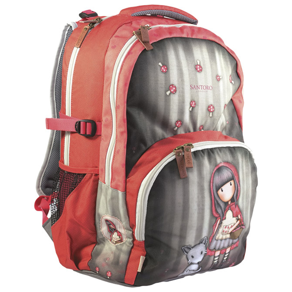 Ranac đački 2 zipa Little Red Riding Hood Gorjuss G4193013 - ODDO igračke