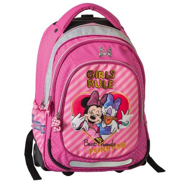 Trolley školski ranac sa točkićima Minnie Mouse Girls rule 318005 - ODDO igračke