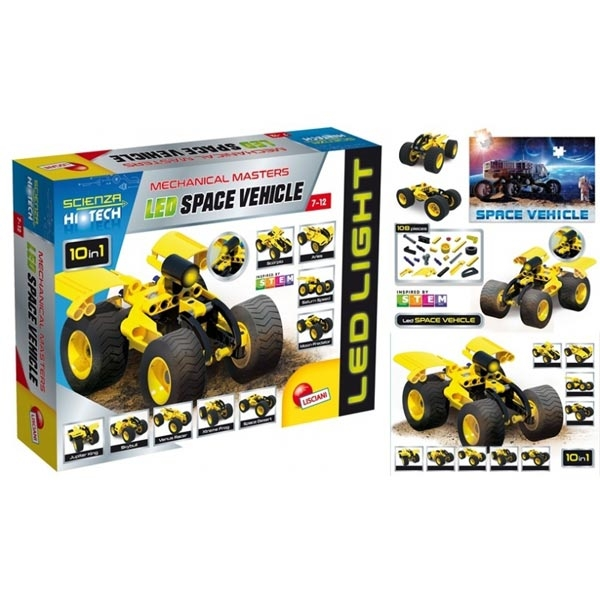 HI-Tec Nauka edukativna igra konstruktor LED Space vozilo 65868 - ODDO igračke