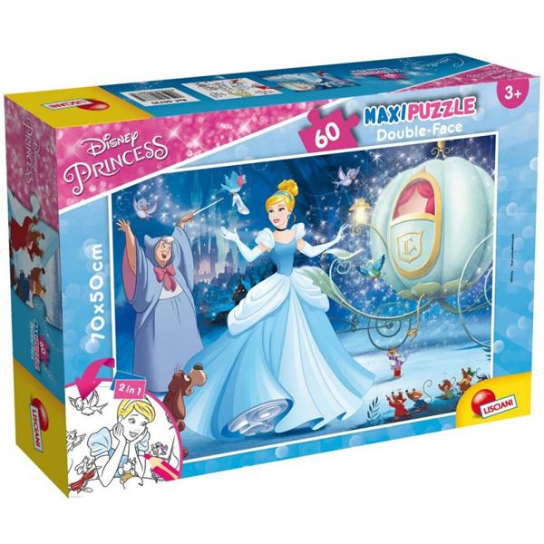 Slagalica Lisciani 60pcs Maxi Disney Pepeljuga 2u1 složi i oboji 66735 - ODDO igračke