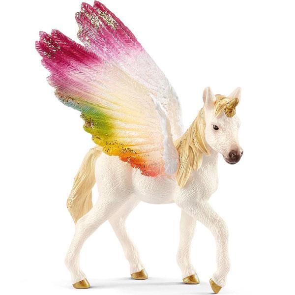 Schleich Bayala figura Pegaz sa krilima duginih boja ždrebe 70577 - ODDO igračke