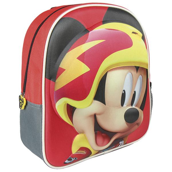 Ranac manji 3D Mickey Roadster Cerda crveni 2100002093 - ODDO igračke