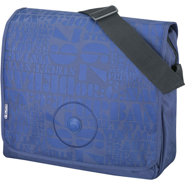 Torba đačka na rame Urban Herlitz plava 11281490 - ODDO igračke