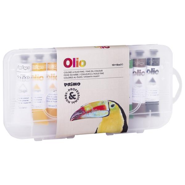 Boja uljana 18ml aluminijumska tuba 10boja pvc Olio CMP 425TO10P blister - ODDO igračke