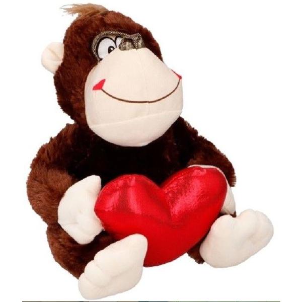 Pliš majmun sa srcem 32cm 39433 - ODDO igračke