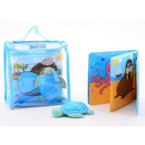 Knjiga za kupanje sa igračkom u torbici Happy World 22256 - ODDO igračke