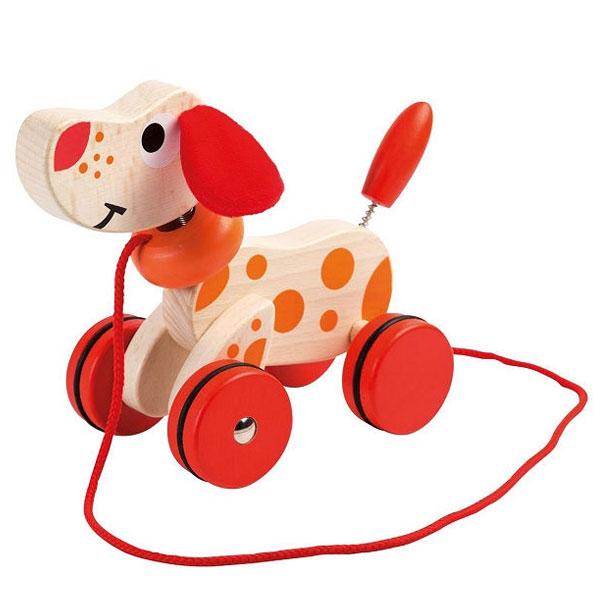 Drvena igračka pas sa kanapom Joueco 800469 - ODDO igračke