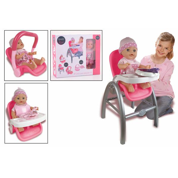 Baby Rose stolica 3u1 30cm 27598 - ODDO igračke