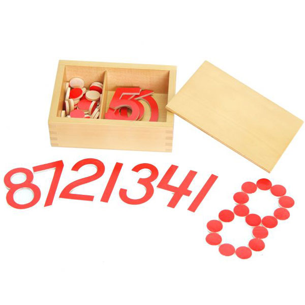 Matematičko upoređivanje, brojevi i žetoni Montesori HTM0128 - ODDO igračke