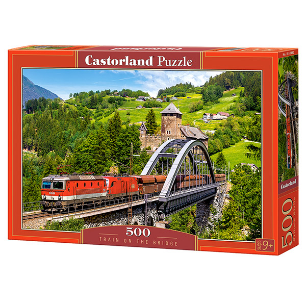 Castorland puzzla 500 Pcs Train on the Bridge B-52462 - ODDO igračke