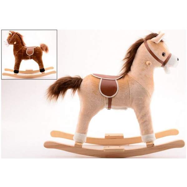 Klackalica Drveni konj Happy World 33808 - ODDO igračke