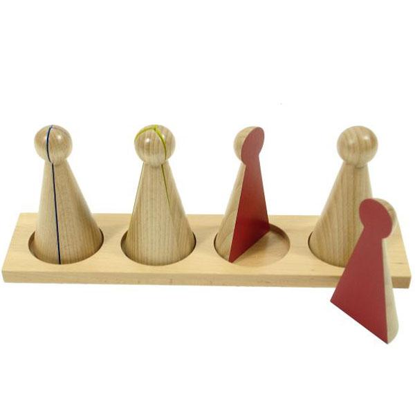 Drveni čunjevi Montesori HTM0152 - ODDO igračke