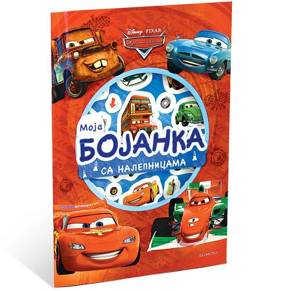 Disney Automobili Moja Bojanka Sa Nalepnicama EGM1038 - ODDO igračke