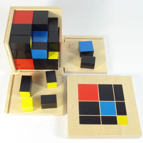 Kocka 3x3 Montesori HTM0171 - ODDO igračke