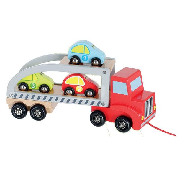 Drveni set transporter + 3 automobila Joueco 33805 - ODDO igra�ke