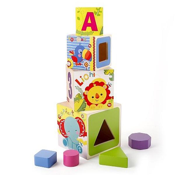 Fisher Price drvene kocke sa brojevima AD1005 - ODDO igračke