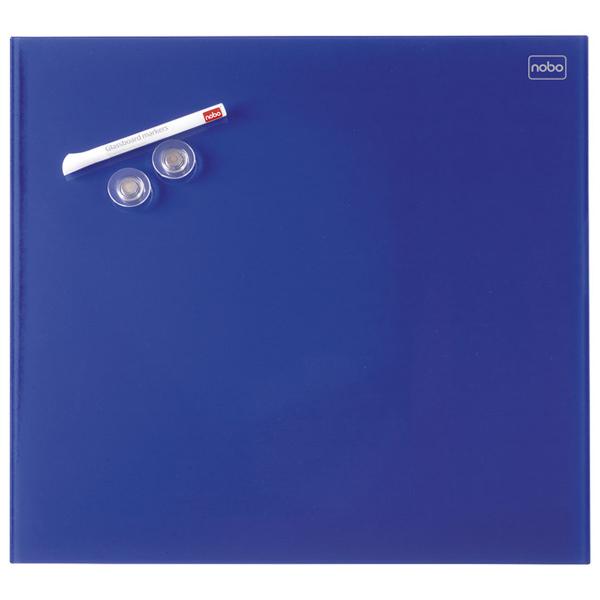 Tabla magnetna 30x30cm staklena Diamond Nobo 1903952 plava - ODDO igračke