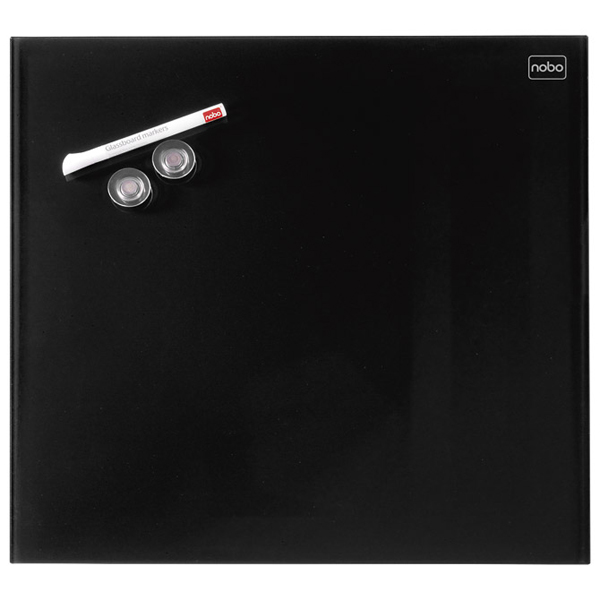 Tabla magnetna 45x45cm staklena Diamond Nobo 1903951 crna - ODDO igračke