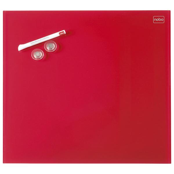 Tabla magnetna 45x45cm staklena Diamond Nobo 1903955 crvena - ODDO igračke