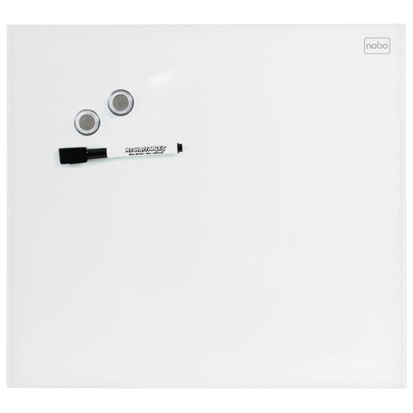 Tabla magnetna 45x45cm staklena Diamond Nobo 1903957 bela - ODDO igračke