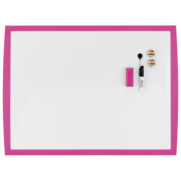 Tabla magnetna 58,5x43cm roze okvir Joy Nobo 2104177 bela - ODDO igračke