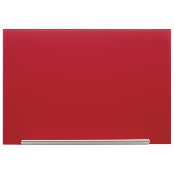 Tabla magnetna 67,7x38,1cm staklena Diamond Nobo 1905183 crvena - ODDO igračke