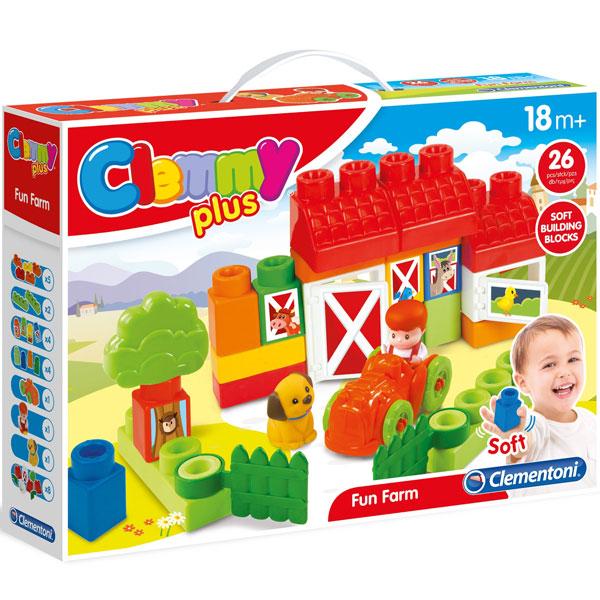 Mekane gumene kocke Clemmy Farma CL17177 - ODDO igračke