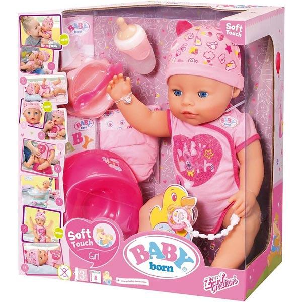 Baby Born lutka Soft Touch Girl ZF824368 - ODDO igračke