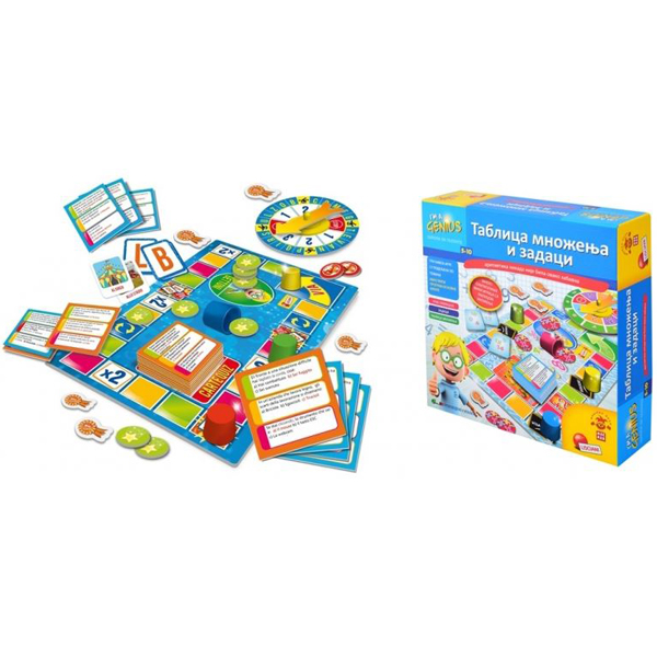 Mali Genije SR Edukativna igra Tablica množenja i zadaci RS67435 - ODDO igračke
