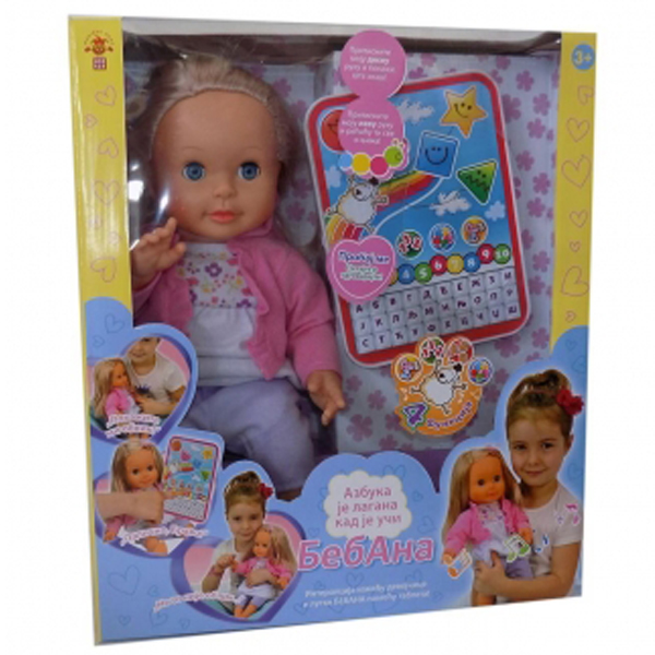 Lutka beba Bebana Interaktivna lutka sa tabletom 1519 - ODDO igračke