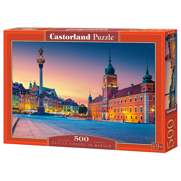 Castorland puzzla 500 Pcs Castle Square Warsaw 52486 - ODDO igračke