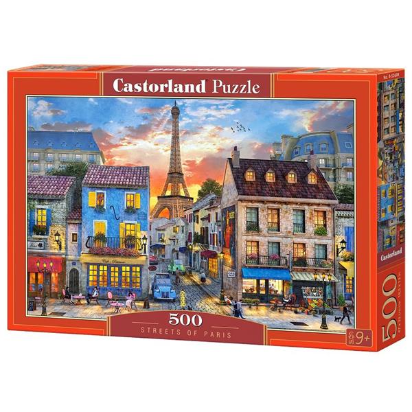 Castorland puzzla 500 Pcs Dominic Davison: Streets of Paris 52684 - ODDO igračke