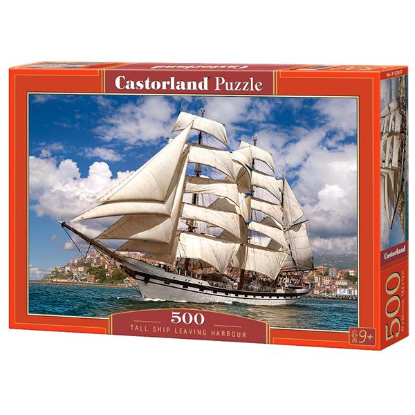 Castorland puzzla 500 Pcs Tall Ship Leaving Harbour 52851 - ODDO igračke