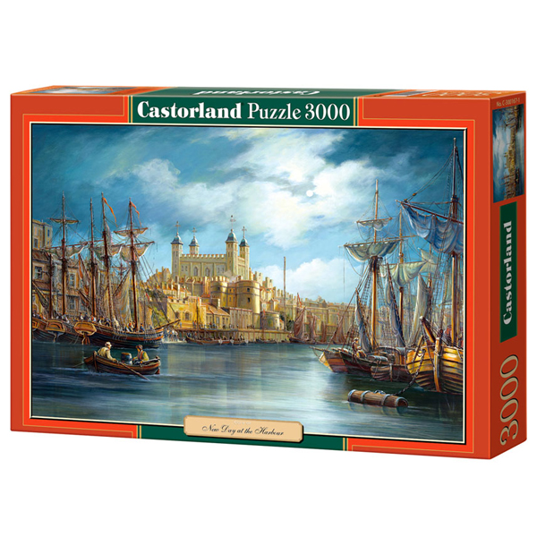 Castorland puzzla 3000 Pcs Sunrise on the Harbour 300167 - ODDO igračke