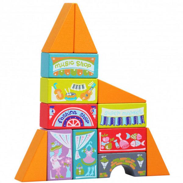 Cubika Drveni čudesni grad (13 elemenata) 12367 - ODDO igračke