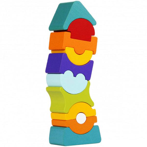 Cubika Drveni Balans Toranj (11 elemenata) 12862 - ODDO igračke