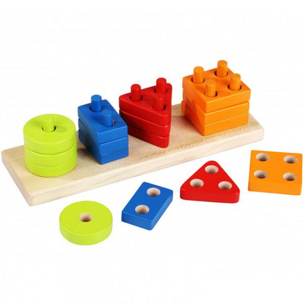 Cubika Drvena Igračka Geometrijski oblici (17 elemenata) 13807 - ODDO igračke
