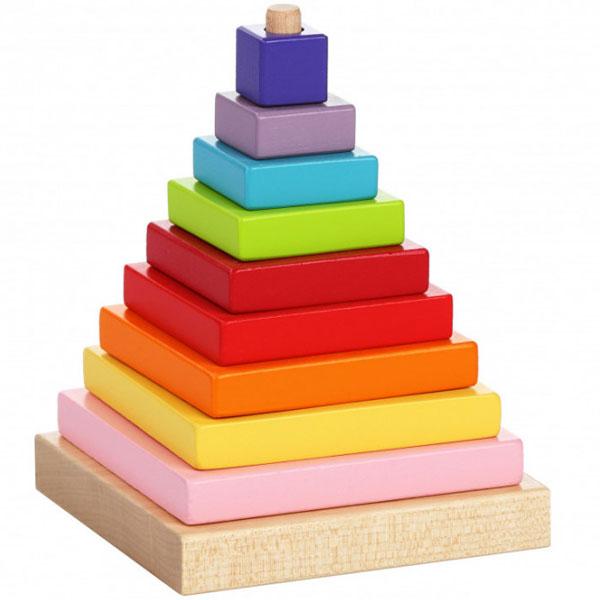 Cubika Drvena Piramida (9 elemenata) 13357 - ODDO igračke
