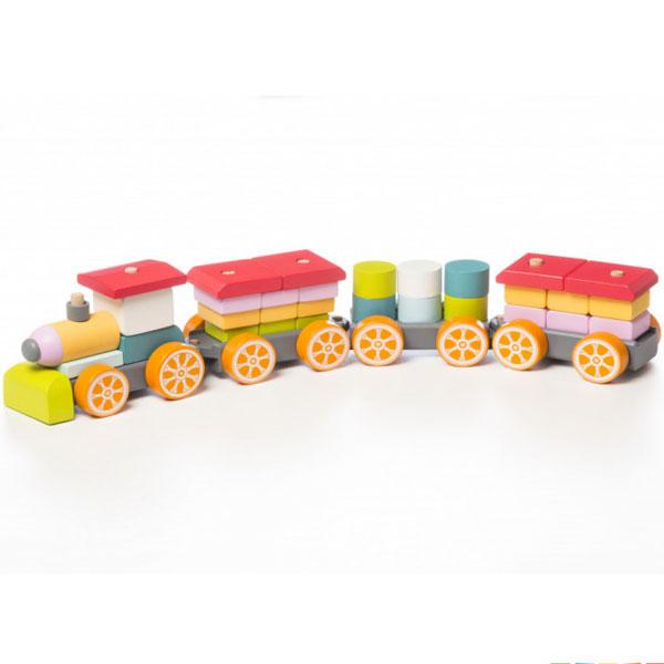 Cubika Drveni Veliki Voz (35 elemenata) 13319 - ODDO igračke