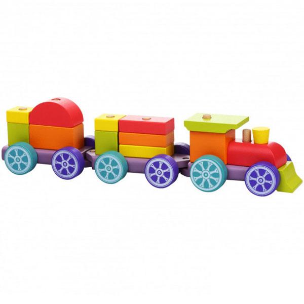 Cubika Drveni Vozić Duga (15 elemenata) 12923 - ODDO igračke